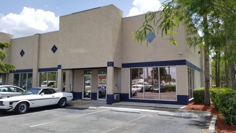 Commercial real estate property in Fort Myers, Florida. The building is an industrial warehouse.