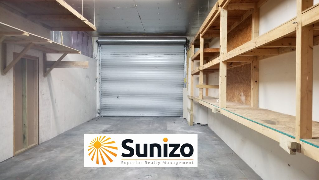 Inside view of an industrial warehouse located in Fort Myers, Florida.